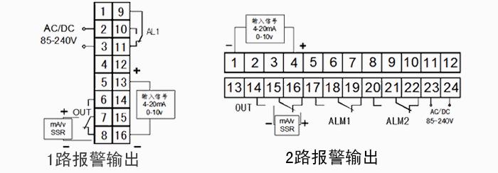 控制输出:  以下控制方式四选一:                 ●继电器开关量