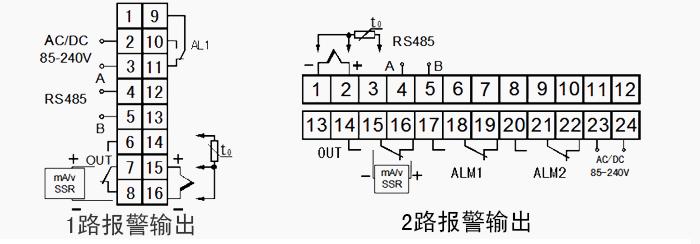 电流电压信号,温度传感器信号输入调节可控硅带rs485/232通信